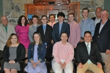 2017 AGA Scholarship Recipients Recently Honored at Glenmaura National Golf Club.